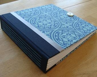 Wedding Photo Album Scrapbook/ Photo Guest Book in Navy & Teal