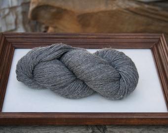 SUPER-SIZED SKEIN! Royal Baby Alpaca Yarn Sock Weight Natural Gray 200 gram skein