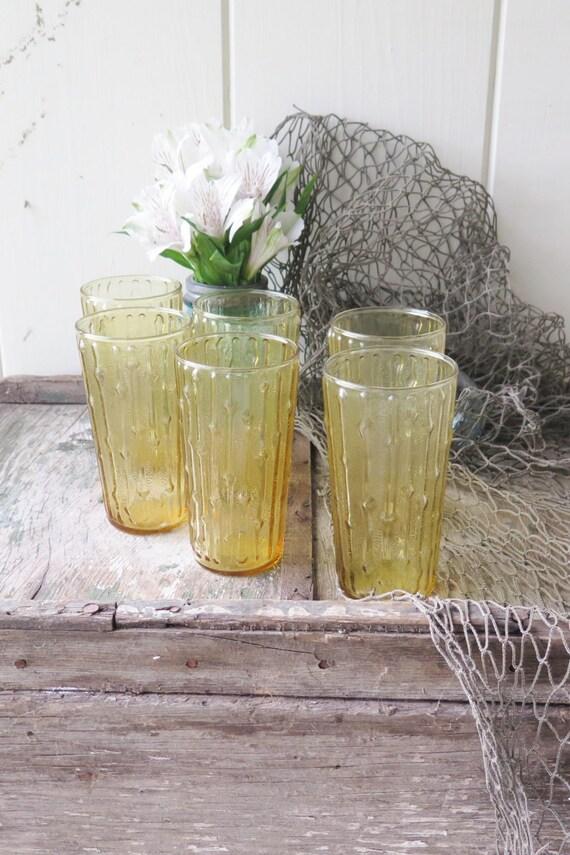 6 Bamboo Glasses
