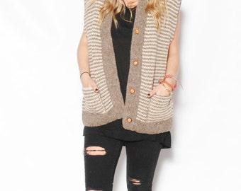 Vintage Ethnic Cowichan Sweater Vest