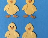 4 Chick Die Cuts Embellishment Baby Paper Chicken for Easter Fam Scrapbooking Cards and Paper Crafts Free Post Australia