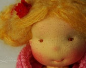 """Mona the Little Princess Waldorf Inspired Doll, OOAK doll by Atelier Lavendel, Cloth Doll 11"""" ECO friendly"""