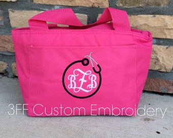 Personalized Monogrammed Insulated NURSE/DOCTOR Stethoscope Lunch Tote 26 Tote Colors