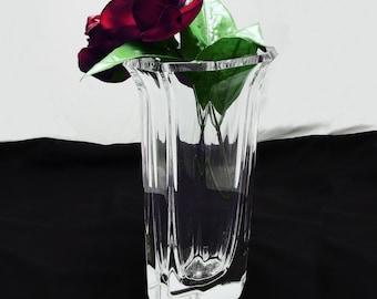 1930s Vintage Kosta Boda Crystal Art Glass Vase, Signed B. Edenfalk, Art Deco Crystal Vase, Art Nouveau, 1930s Kosta Boda #48842