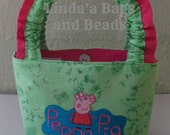 Little Girls Bag with Peppa Pig Embroidery Design