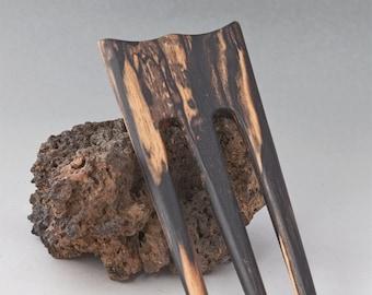 B & W EBONY Hair Fork - 3 Prong Hairfork