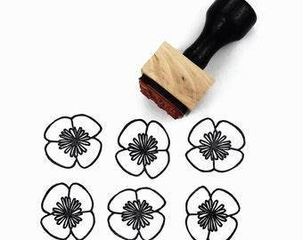 Rubber Stamp Drawn Flower - Springtime Summertime Craft Hand Drawn Stamp - Sunny Summer Stamps by Creatiate