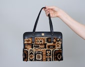 1960s vintage purse / carpet bag / John Romain