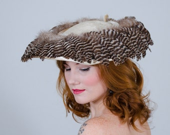 1950s vintage hat / wide brim hat / Berger's