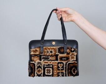 1960s vintage purse / carpet bag / John Romain