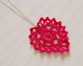 Crochet pattern heart necklace charm, women earrings, romantic vintage lace, woman statement jewelry, wedding DIY photo tutorial