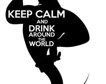 Drink Around the World- Tshirt design Genie Aladdin
