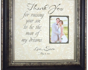 Parents of the Groom Gift, Personalized In Laws Gift, 16x16