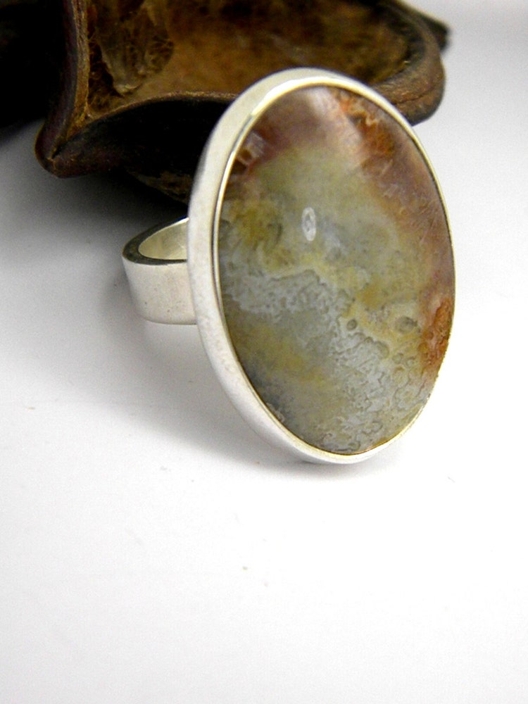 silver lace agate ring crazy lace agate in by nikiforosnelly