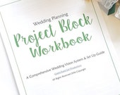 Wedding Planning Guide & Project Block Workbook- Digital File PDF DOWNLOAD: Plan your Wedding to the last detail. Coordinating Template
