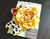 Rose and Bows Hair Accessory Gift Set - Rose Hair Clip - Hair Bows - Hair bow Set - Stocking Stuffer  - Gift Sets for Women