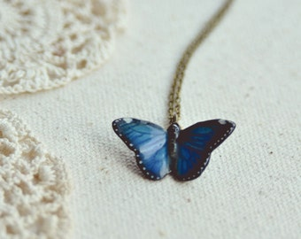 porcelain butterfly necklace.