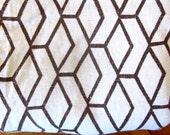 Vintage Filkauf screen printed 100% linen, linen tablecloth, fabric yardage, mid century textile