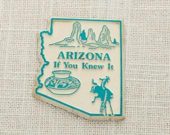 "Arizona Vintage State Magnet | Travel Souvenir Tourism Summer Vacation Memento | ""If You Knew It"" USA America Refrigerator | Christmas Xmas"