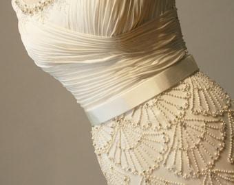Art Deco Wedding Dress Beaded Vintage Style