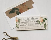 Bridal Shower Cards, Romantic Pink Vintage Bridal Shower, Includes Envelope Liner - 6 Colors To Choose From, 3.00/each