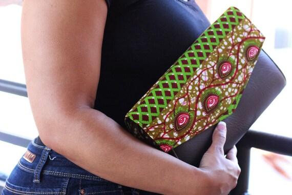 Ankara Orange purse, african print bag, african purse, african print purse, ankara clutchbag, bridesmaid clutch, large clutch