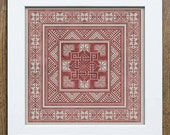 Valknut Pillow Pattern - Cross Stitch Embroidery Chart - Instant Download PDF Booklet