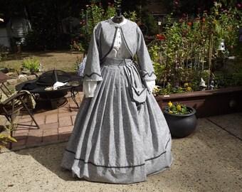 Ladies Size 10 Civil War Zouave Suit and Reticule