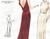 Glamorous 1930s Backless Evening Gown Re-Issued Vogue Sewing Pattern 2241 Size 10 Bust 32 1/2 UnCut Old Hollywood Dress