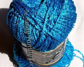 Ayda Zincir: Glitz and Glitter Yarn Glitzy Glamour Yarn shining yarn, sparkling yarn Hypoallergenic Yarn color turquoise