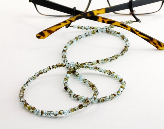 tortoise shell eyeglass chain beaded glasses chains by maetri