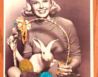 Embellished Doris Day Easter print