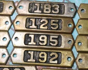1 Vintage Brass Number Plate