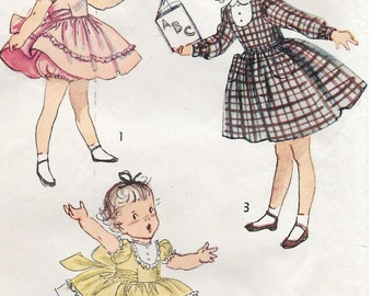Sz 1-1950's Child's Dress and Panties Simplicity 2970