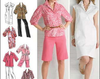 Simplicity Pattern 2894 Misses'/Women's Dresses, Tunics, Pants and Shorts Sizes 10-18 NEW