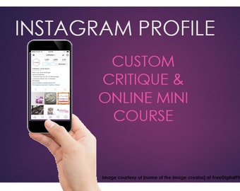 Instagram Profile Critique - Instagram Profile mini-course - Instagram Help