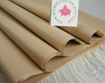 "Tan Tissue Paper Bulk 24 Sheets of 20"" X 30"" - Neutral Tissue Sheets - Store Packaging Gift Wrap Tissue Paper - Tan Wedding Gift Paper"