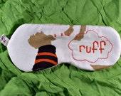 OOAK, Dog, ,embroidered, sleep mask