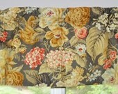 Kitchen Curtain . Kitchen Valance . Waverly Floral Flourish in Clay . Beautiful Romantic Floral . Handmade by Seams Original