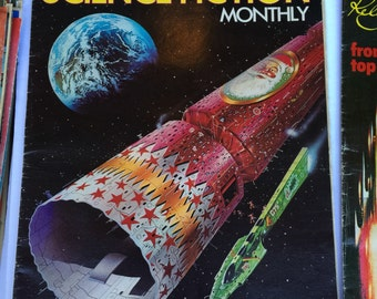 Science Fiction Monthly Magazines 1974 . Sci Fi. Space. Aliens.   No.00217 cs
