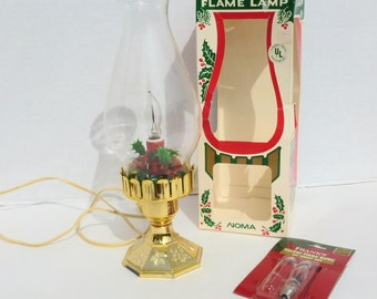 Noma Electric Christmas Candle Light Flickering Flame Lamp in Original Box No. 1539