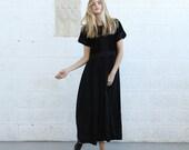 Velvet panel maxi dress.