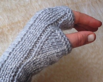 Hand Knitted Fingerless Gloves Women Gloves Winter Accessories Knit Gloves Mittens Arm Warmers Christmas Gifts For Her Gifts For Women