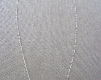 Minimalistic Silver Horizontal Star Burst and Plain Bar Necklace