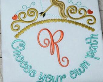 Cinderella Merida Elsa Anna Tinkerbell Ariel Tiara Monogram Embroiderd Shirt perfect for a Disney trip