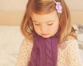 Girls Scarf - Purple Scarf - Purple Cowl - Children's knitted scarf -  Knitted Scarf - Children's Cowl - Ready to ship