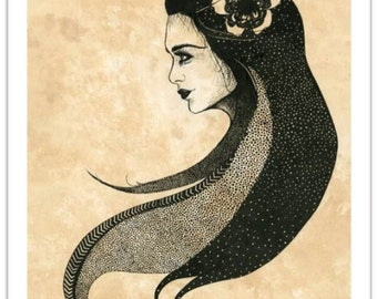 Griselda - Limited Edition Drawing, A3 Print Giclee