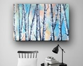 Tree Painting, Birch Tree, Aspen,Abstract Painting, Original Abstract Painting on Canvas, Professional Painting, Wall Art, 36x24 Heather Day
