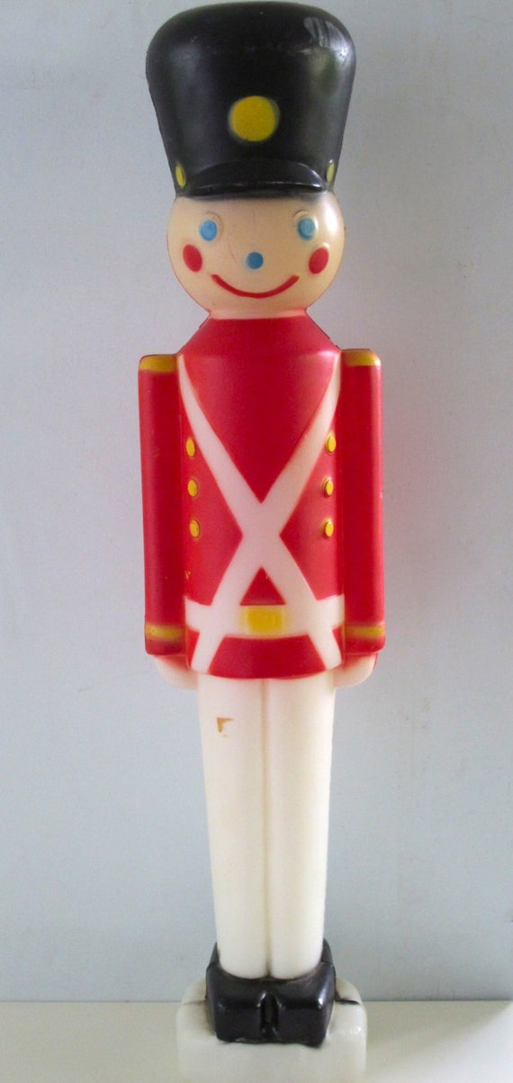 Vintage Toy Soldier Lighted Blow Mold Christmas Yard Decor