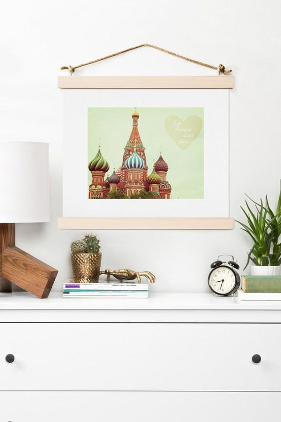 Art Print ~ From Russia With Love, Moscow St Basil's Cathedral photo, travel wanderlust dorm decor, bon voyage gift, new apartment decor